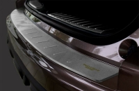 Накладка из нержавеющей стали на бампер задний (верхняя часть) для Audi Q3 2011-...г.в.