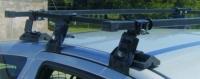 Багажник Amos на Toyota Yaris I 1999 - 2003 г.в. 3-двери (Dromader D-4 (+3D) (1,2)