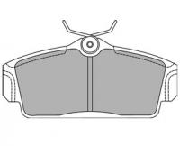 Тормозные колодки передние для Nissan Almera N16 (2000-2006)