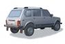 Рейлинги АПС на ВАЗ Niva 4x4 (пятидверная)