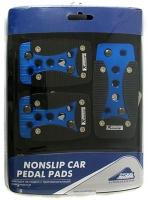 Накладки на педали Nova Bright чёрно-синие (арт. 33756)